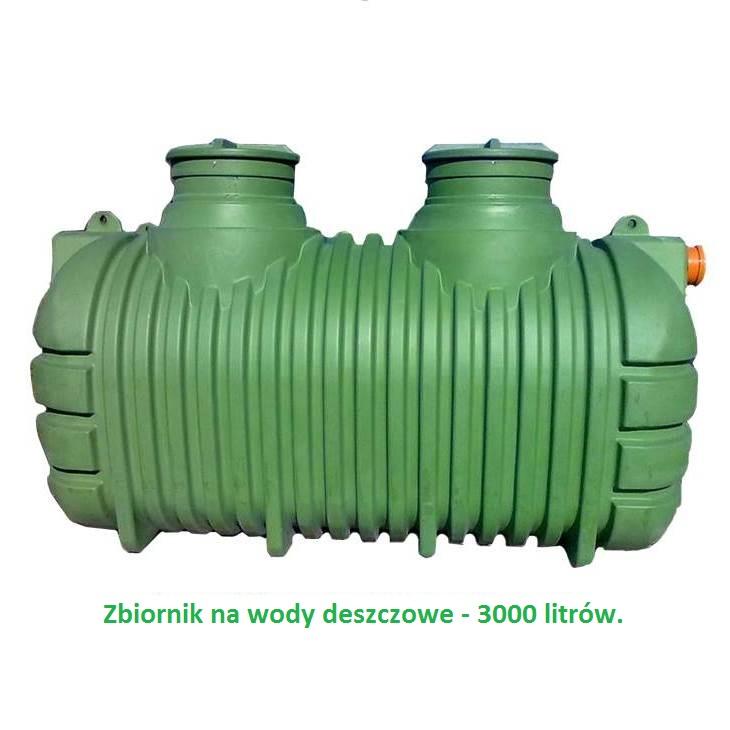 zbiornik na wody deszczowe 3000 litrów