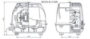 wymiary obudowy SECOH EL-N